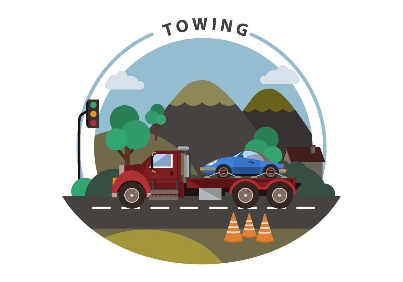 free-towing-vector-illustration