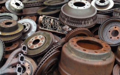 Auto cast iron recycling